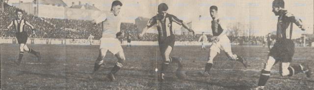 bayern - stuttg. kickers 1928 haringer an ball